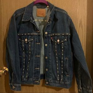 Studded Levi Denim Jacket